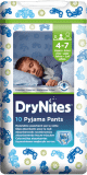 HUGGIES® DryNites pro chlapce 4-7 let (17-30 kg), 10 ks - kalhotkové pleny