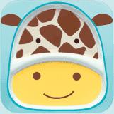 SKIP HOP Zoo Talířek 2v1 - Žirafa