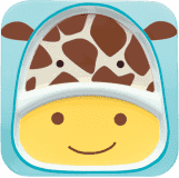 SKIP HOP Zoo Talířek melaminový dělený 2v1 Žirafa 6 m+