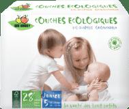 BIO BABBY Jednorázové dětské bio plenky Junior (12-25 kg) - 28 ks