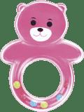 CANPOL BABIES 2/605 Hrkálka medvedík s guličkami – ružová