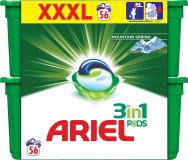 ARIEL Mountain Spring All in 1 (56ks) – gélové pracie kapsuly