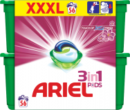 ARIEL Touch of Lenor Fresh 3v1 (56ks) – gélové pracie kapsuly