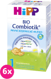 6x HIPP 1 BIO Combiotik (600 g) – dojčenské mlieko
