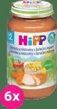6x HIPP Zelenina s cestovinami a kuraťom (220 g) - mäsovo-zeleninový príkrm