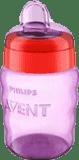 AVENT Kubek niekapek z miękkim ustnikiem 260 ml (9m+) – czerwono-różowy