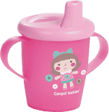 CANPOL BABIES Kubek niekapek Toys 250 ml (12m+) – różowy