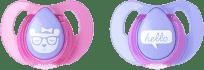 TOMMEE TIPPEE Smoczek uspokajający Basic, lateksowy, 6-18 m (2 szt.). Dziewczynka