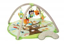SKIP HOP Mata edukacyjna 5 zabawek, poduszeczka Treetop Friends green-brown 0m+