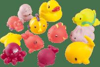 BABYMOOV Zabawki do wody Przyjaciele dziewczynki 12 szt.
