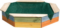 WOODY Drewniana piaskownica - kolorowa
