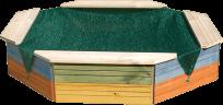 WOODY Pieskovisko drevené - farebné