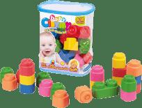 CLEMENTONI Clemmy baby - 24 kostek v plastovém pytli