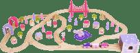 BIGJIGS RAIL Dřevěná vláčkodráha pro holky - princezny