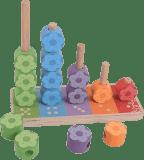 BIGJIGS Drewniana układanka – nakładanie kolorowych kwiatów