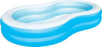 BESTWAY Nadmuchiwany basen laguna niebieski - 262 x 157 x 46 cm