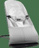 BABYBJÖRN Leżaczek Balance Soft Mesh – Srebrno-Biały