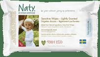 NATY NATURE Babycare Eco Sensitive 56 szt., perfumowane - chusteczki nawilżane