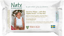 NATY NATURE BABYCARE ECO Sensitive 56 ks, aloe - vlhčené obrúsky