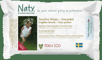 NATY NATURE Babycare Eco Sensitive 20 szt., podróżne nieperfumowane - chusteczki nawilżane