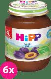 6x HIPP BIO Slivka (125 g) - ovocný príkrm