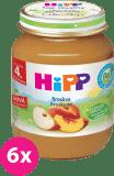 6x HIPP Broskyňa (125 g) - ovocný príkrm