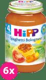 6x HIPP BIO Špagety v bolonskej omáčke (190 g) - mäsovo-zeleninový príkrm