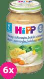 6x HIPP Tagliatelle s morskou rybou, brokolicou a smotanou (220 g) - mäsovo-zeleninový príkrm