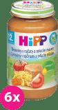 6x HIPP BIO Paradajky s cestovinami a teľacím mäsom (220 g) - mäsovo-zeleninový príkrm