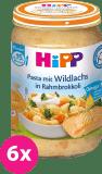 6x HIPP Cestoviny s lososom, brokolicou a smotanou (250 g) - mäsovo-zeleninový príkrm