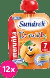 12x SUNÁREK Do ručičky meruňka (90 g) - ovocný příkrm