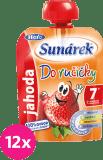 12x SUNÁREK Do ručičky jahoda (90 g) - ovocný příkrm
