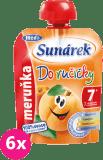 6x SUNÁREK Do ručičky meruňka (90 g) - ovocný příkrm