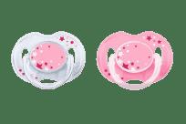 Philips AVENT Cumlík Nočný 0-6 m ružový, 2 ks