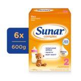 6x SUNAR Complex 2 (600 g) - dojčenské mlieko