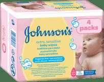 JOHNSON'S BABY Extra Sensitive 224 ks - čistiace obrúsky