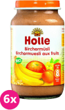 6x HOLLE Cereální müsli s ovocem – dětská ovocná přesnídávka, 220 g