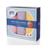 KIKKO Dziecięce ręczniczki/ pieluszki z biobawełny Retro 90x100 (3 szt.) – pastels dla dziewczynek