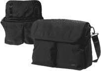 BUMBLERIDE Přebalovací taška Jet black