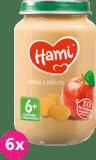 6x HAMI Jablka s piškoty 6+ (190g) – ovocný příkrm