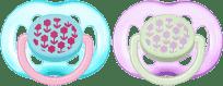 AVENT Cumlík Sensitive 2 ks (silikón) 6-18m, kvetinky