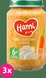 3x HAMI Rýže s kuřecím masem (200 g) - maso-zeleninový příkrm