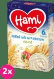 2x HAMI Kaše na dobrou noc obilná s ovocem (225 g) - mléčná kaše