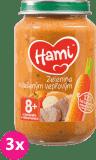 3x HAMI Mrkev, brambory, vepřová kýta (200 g) - maso-zeleninový příkrm