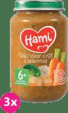 3x HAMI Telecí vývar s rýží a zeleninou (200 g) - maso-zeleninový příkrm