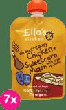 6x ELLA´S Kitchen Kuře se sladkou kukuřičnou kaší 130g
