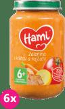6x HAMI Zelenina s krůtou a rajčaty (200 g) - maso-zeleninový příkrm
