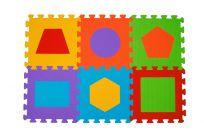 BABYONO Puzzle piankowe kształty 6 szt.