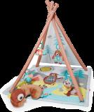 SKIP HOP Mata edukacyjna 4 zabawki, poduszeczka Camping Cubs 0m+
