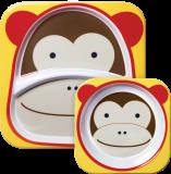 SKIP HOP Zoo Jedálenský set melamínový Opička 6 m+